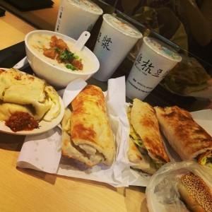 A Taiwanese breakfast