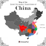 Eight Regional Cuisines of China Map