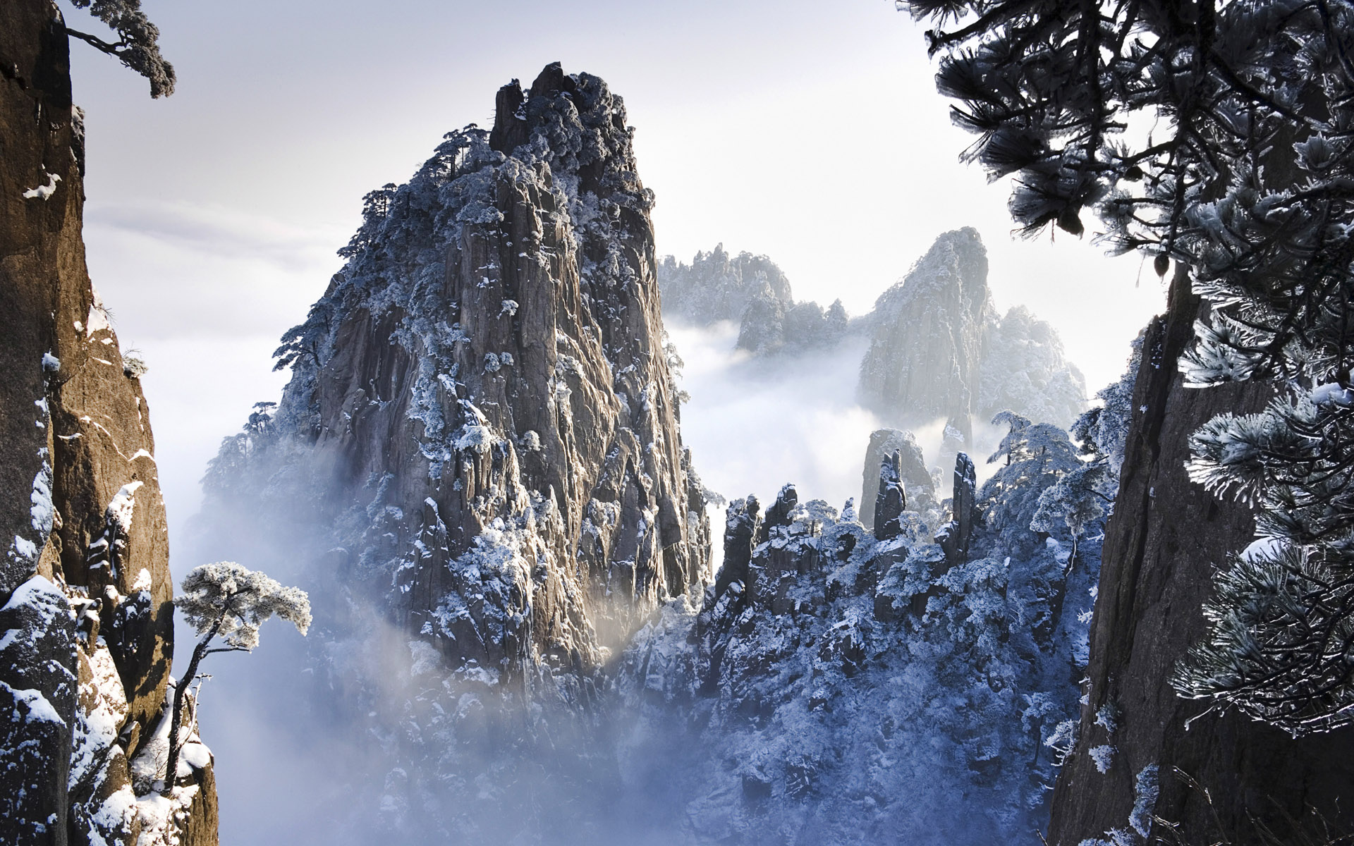 Huangshan Mountains in Winter