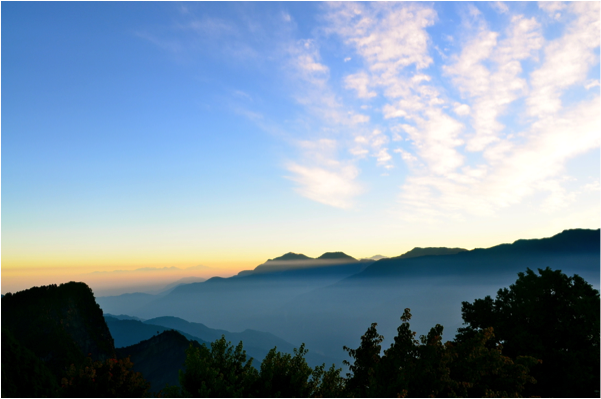 Sunrise over the Sea of Clouds, Yushan National Park