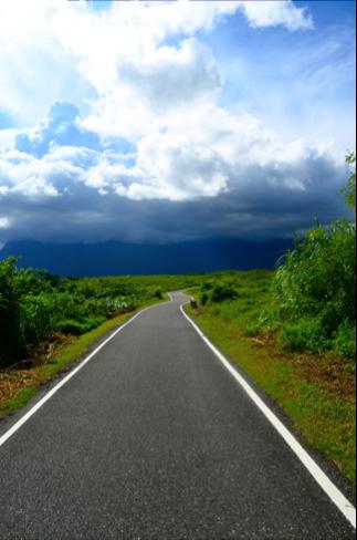 Winding roads of Taitung